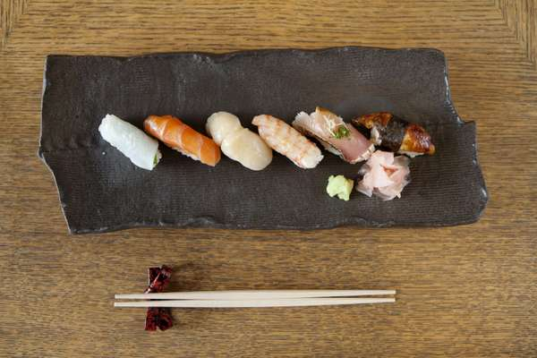 Selection of sushi – the rice must always be warm