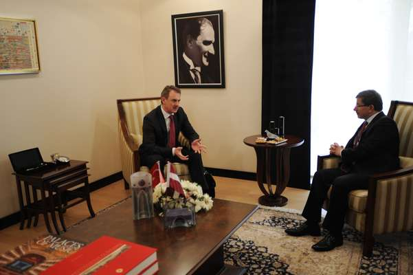 In discussion with the Latvian minister of foreign affairs