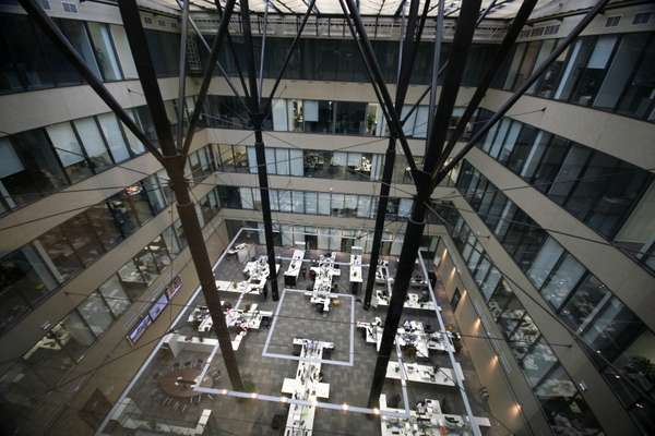 Atrium of the Prague offices