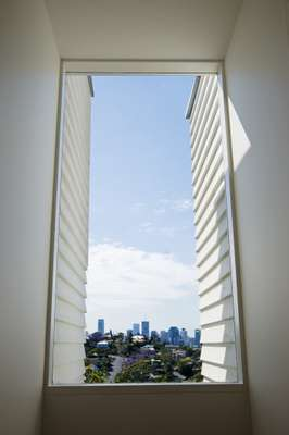 View of Brisbane through energy-efficient glass