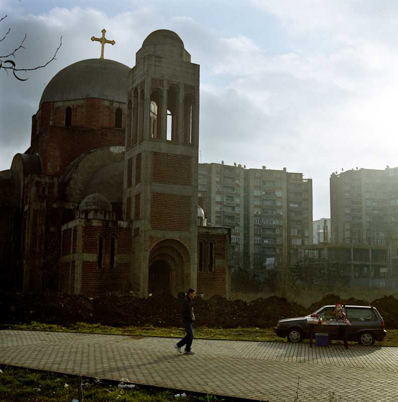 Unfinished church built under Slobodan Milosevic