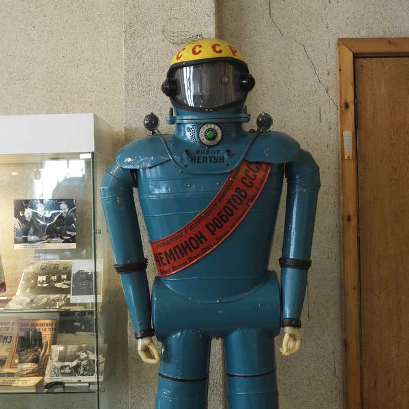 Soviet robot on display at the museum
