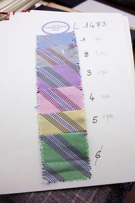 Colour options for ties