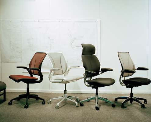 Selection of Diffrient's ergonomic office chairs for Humanscale