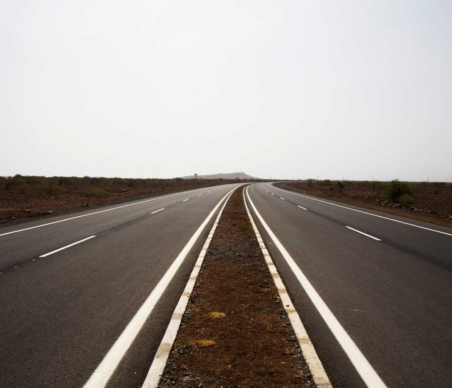 A new road built with a loan from the Millennium Challenge Account