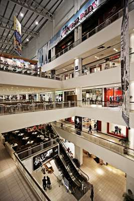 The nine-storey Queensbay shopping mall