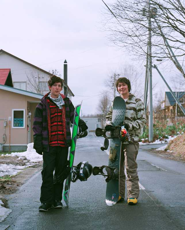 Local snowboarders