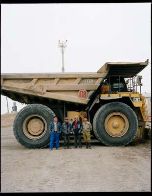 Workers at Baganuur Mine, Mongolia's largest coal mine started by the USSR in 1978