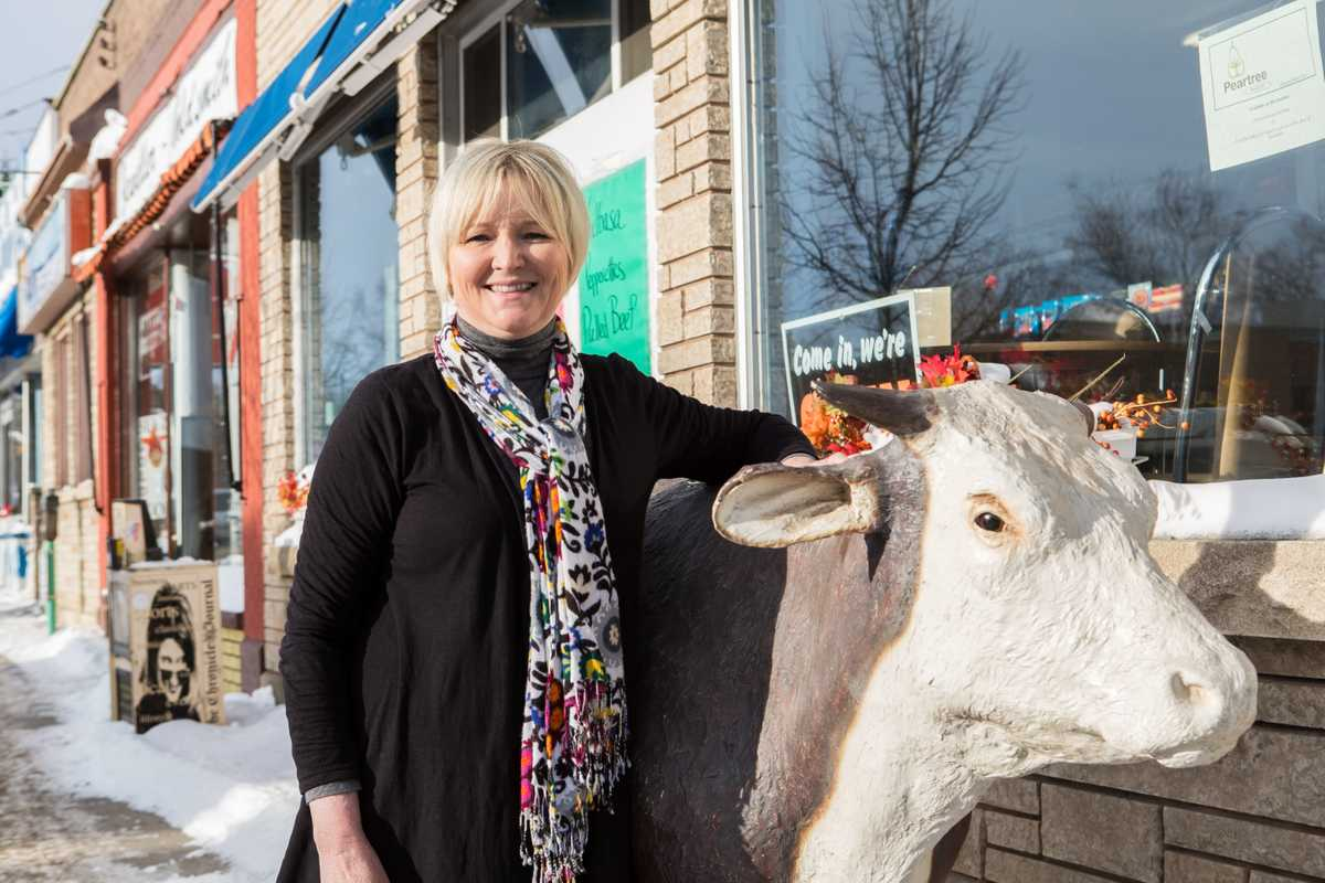 Cindy Salo, owner of Bay Meats Butcher Shop in the heart of the Finnish district