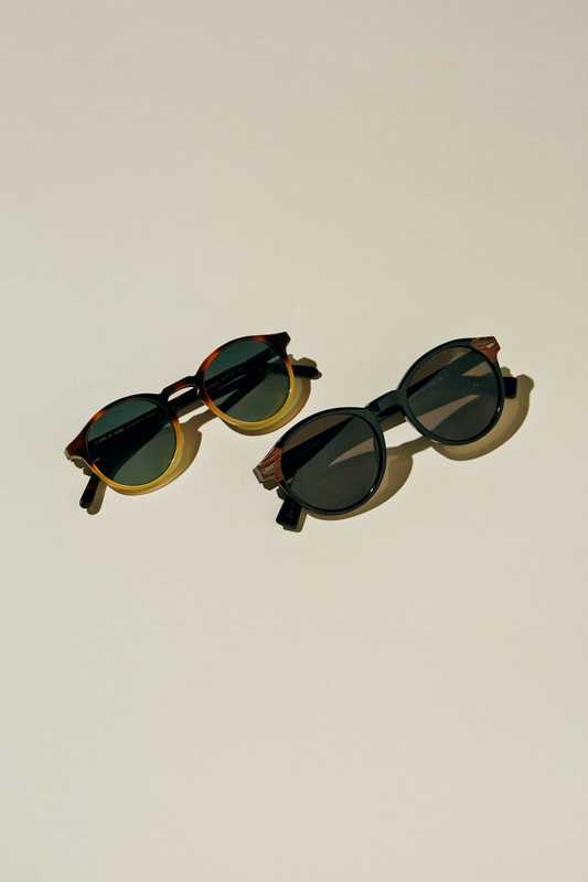 Sunglasses (left to right) by A Kind of Guise,  by Ermenegildo Zegna