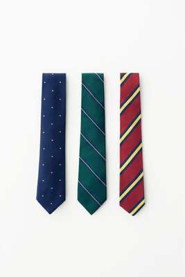 (left to right) Ties by Sergej Laurentius, John Comfort from Fairfax and Individualized Accessories from Usonian Goods Store