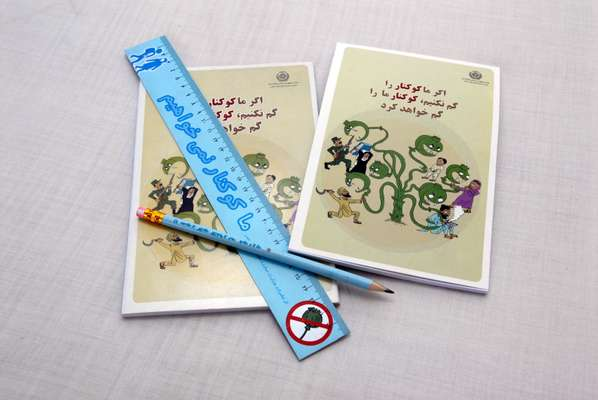 Counter-narcotics merchandise for children, created by Sayara Media