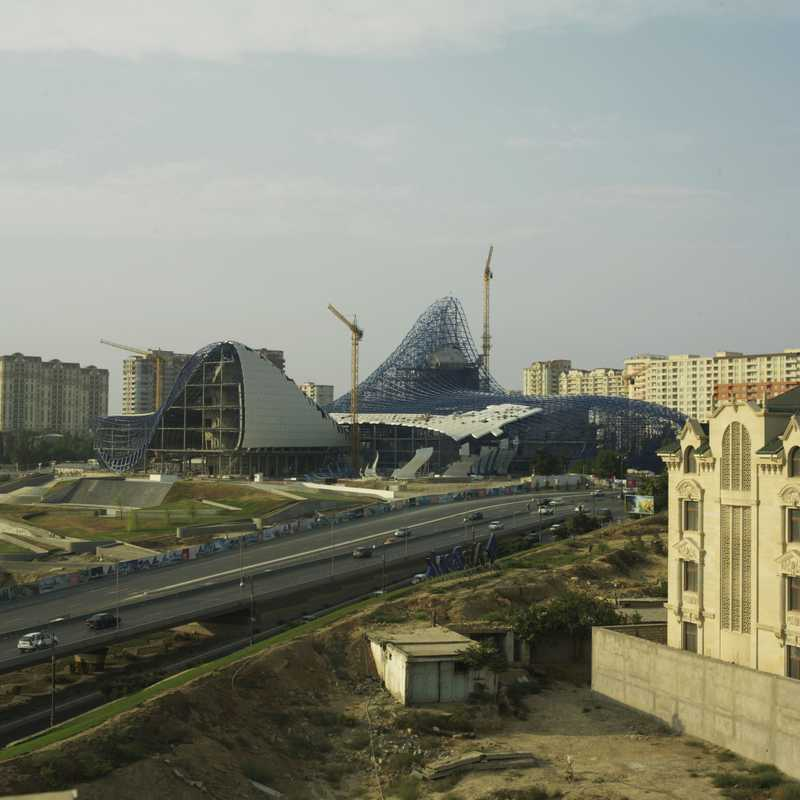 Zaha Hadid's Heydar Aliyev centre under construction