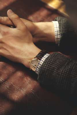 The Watch - Watch by Patek Philippe jacket by Comme des Garçons Homme, shirt by Errico Formicola