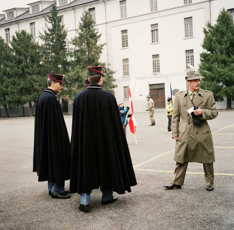 Italian police in ceremonial dress