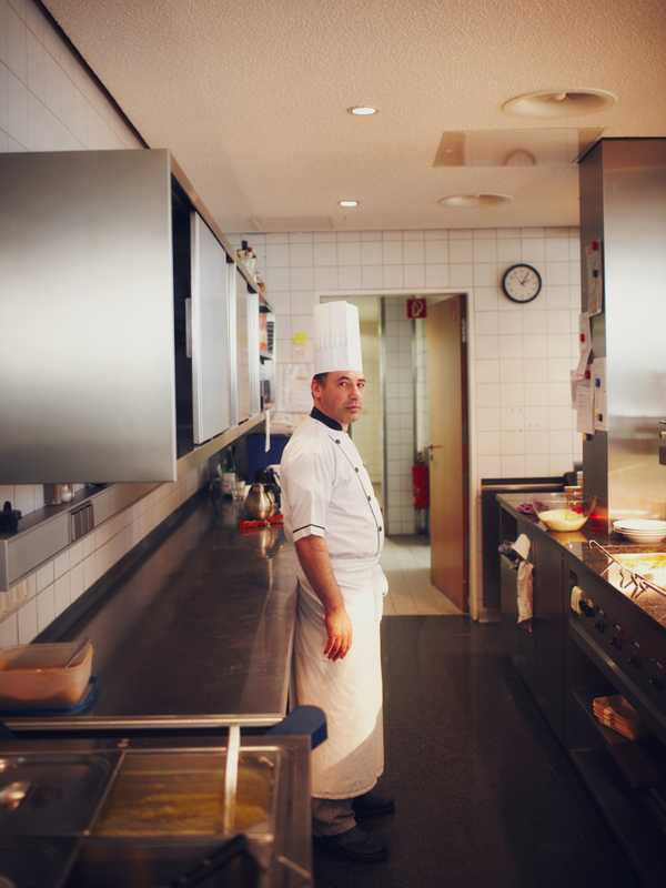 The Munich HQ's Italian chef, Bruno Mazza