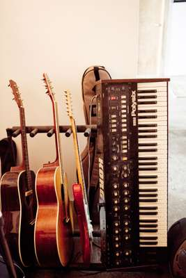 Instruments in Dear's studio