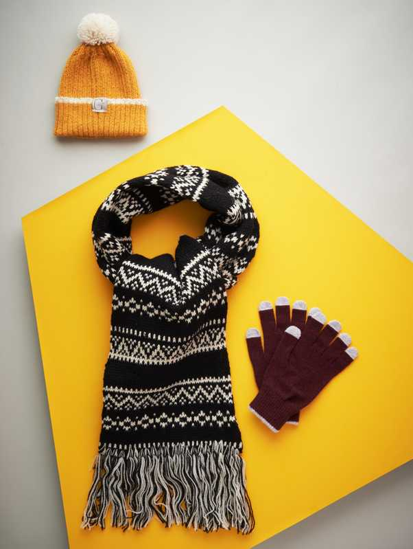 Knitwear picks: Grannies Knits (beanie), Highland 2000 (scarf), Etre (gloves)