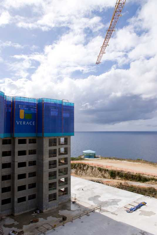 One of four residential towers at Emerald Oceanview Park