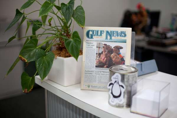 'Gulf News' on the office's front desk