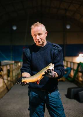 Oddbjørn Jerijærvi, manager of Kirkenes Charr fish farm