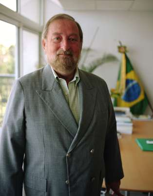 The outgoing Brazilian ambassador Igor Kipman in his Pétionville embassy