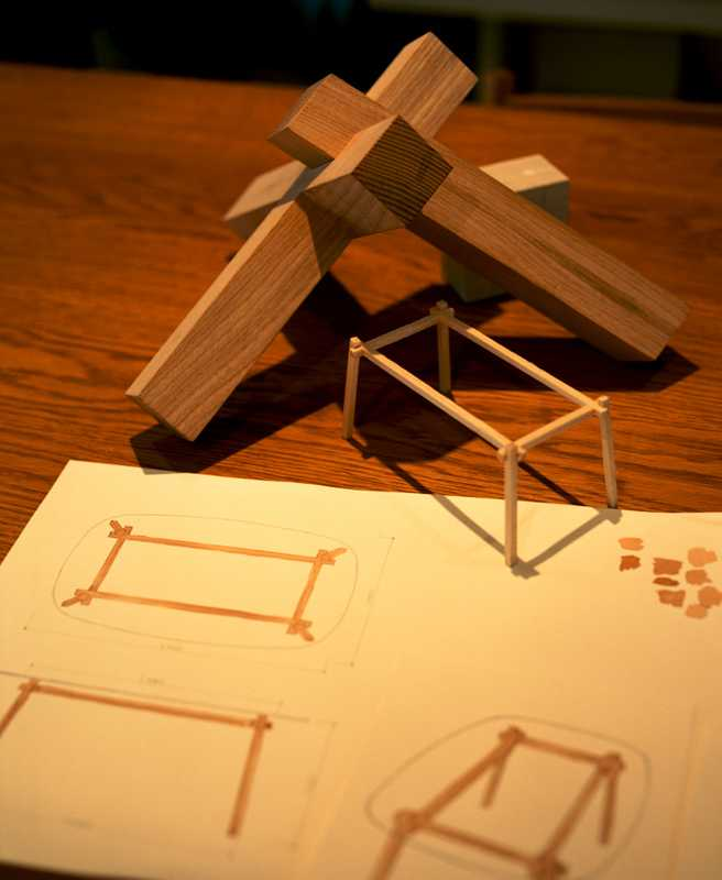Sketches and models for a new table for Benchmark