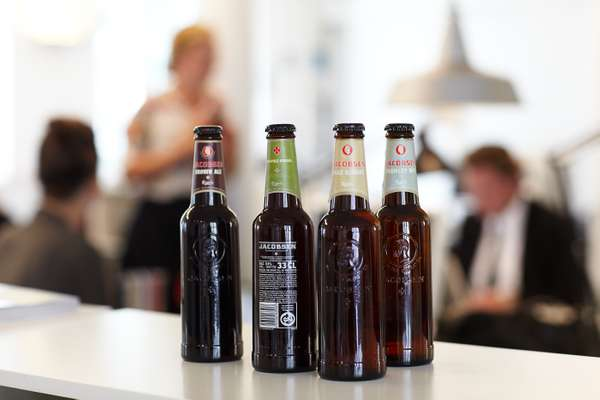Jacobsen beer bottles, designed by e-Types
