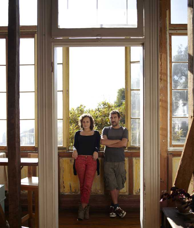 Caro Nelvi, economist and yoga teacher with Juan Pablo Guzman, architect