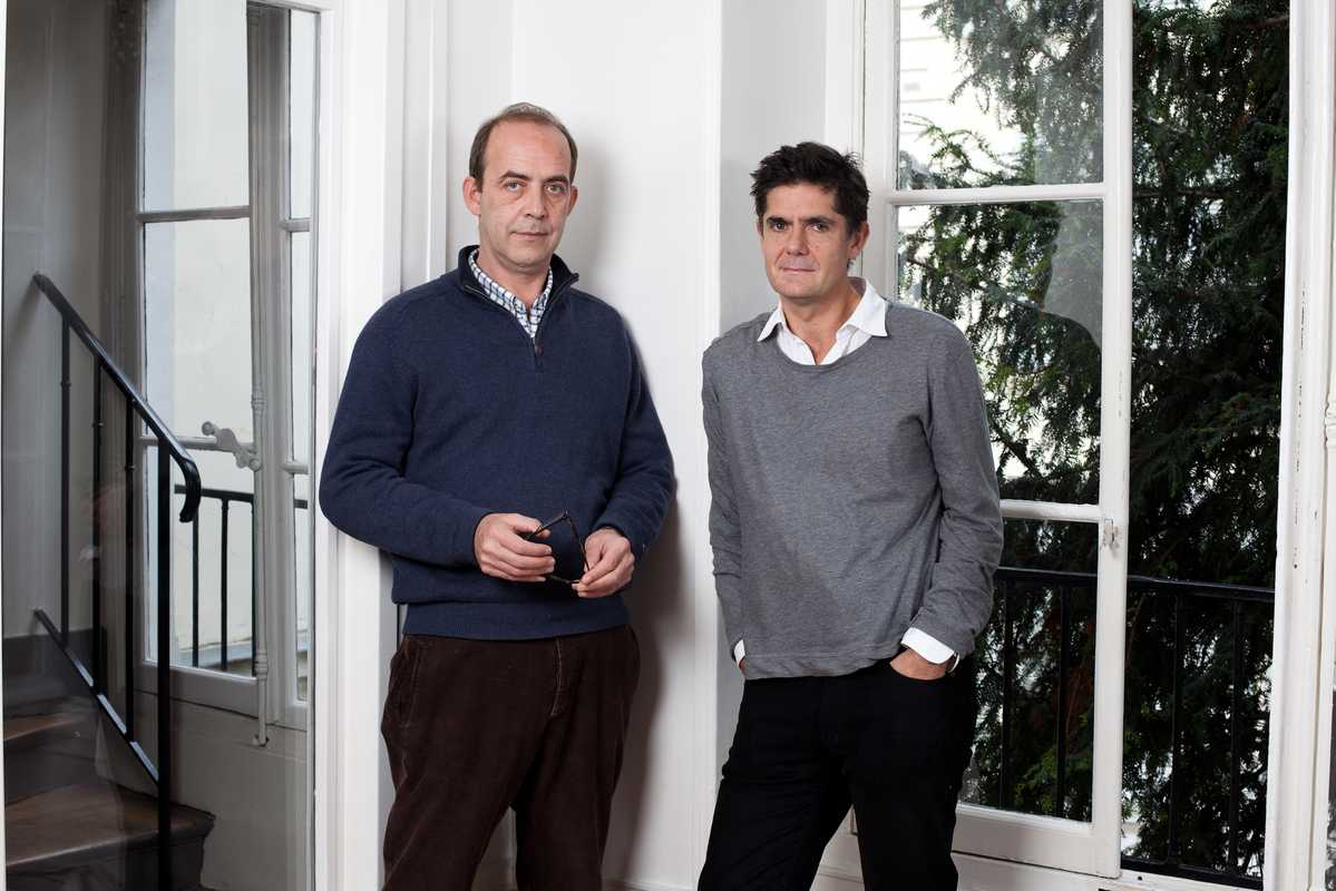 Patrick de Saint Exupéry (left) and Laurent Beccaria