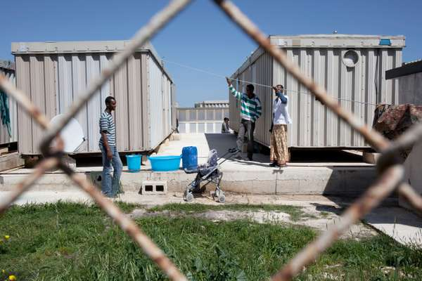 Shelter for migrants and asylum seekers at Hal Far