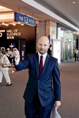 Renfrew at the Hong Kong Exhibitions and Convention Centre where the art fair is held