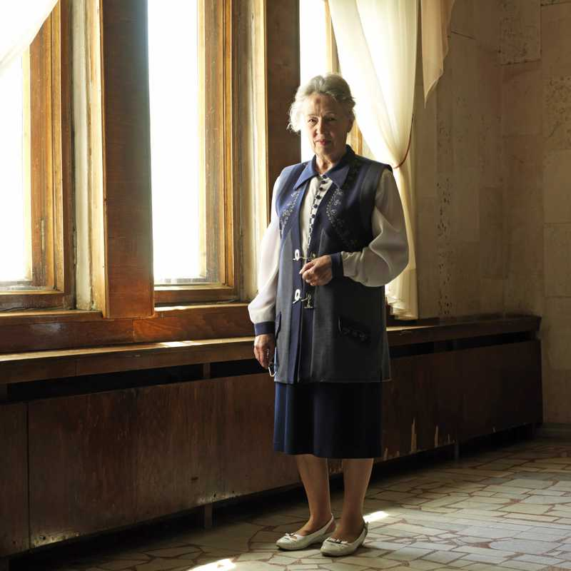 Ludmila, a curator at the Kaliningrad Museum of History & Arts