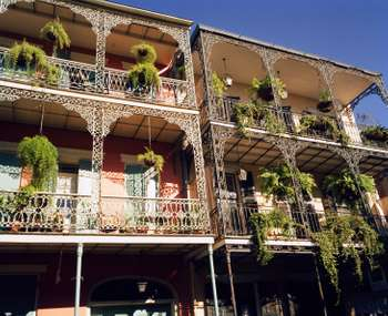 Iconic wrought iron in New Orleans