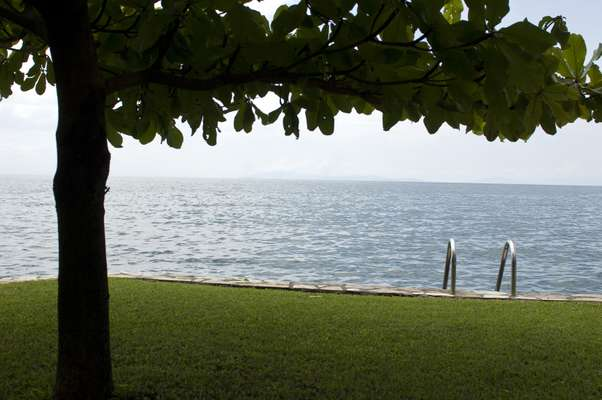 One of many upmarket hotels to spring up on the banks of Lake Kivu