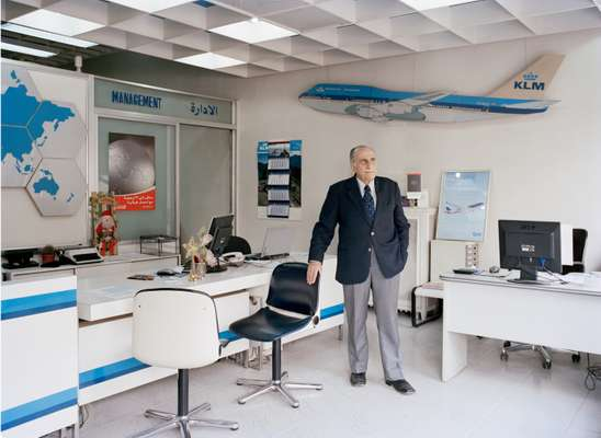 KLM agent Fuad Hilal in his office
