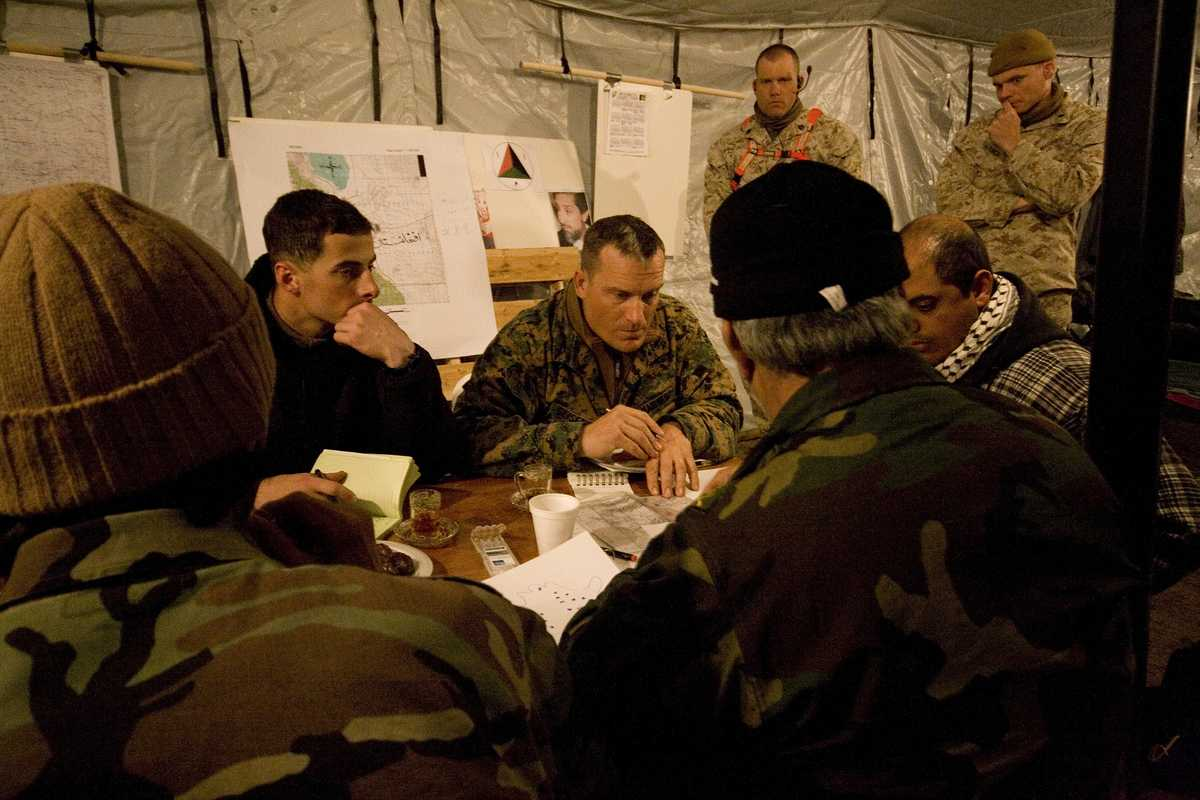 Mountain Viper trainers observe as plans are discussed