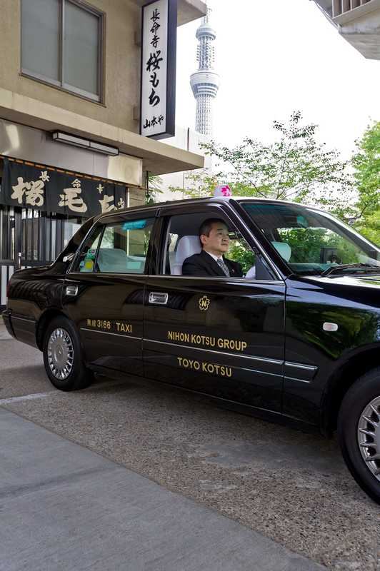 Nihon Kotsu taxi ready and waiting