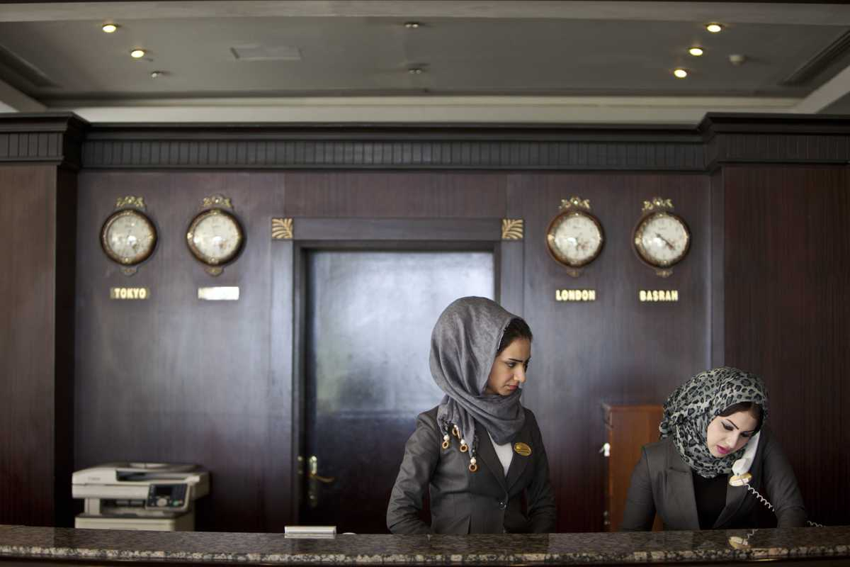 Reception of the Basra International Hotel