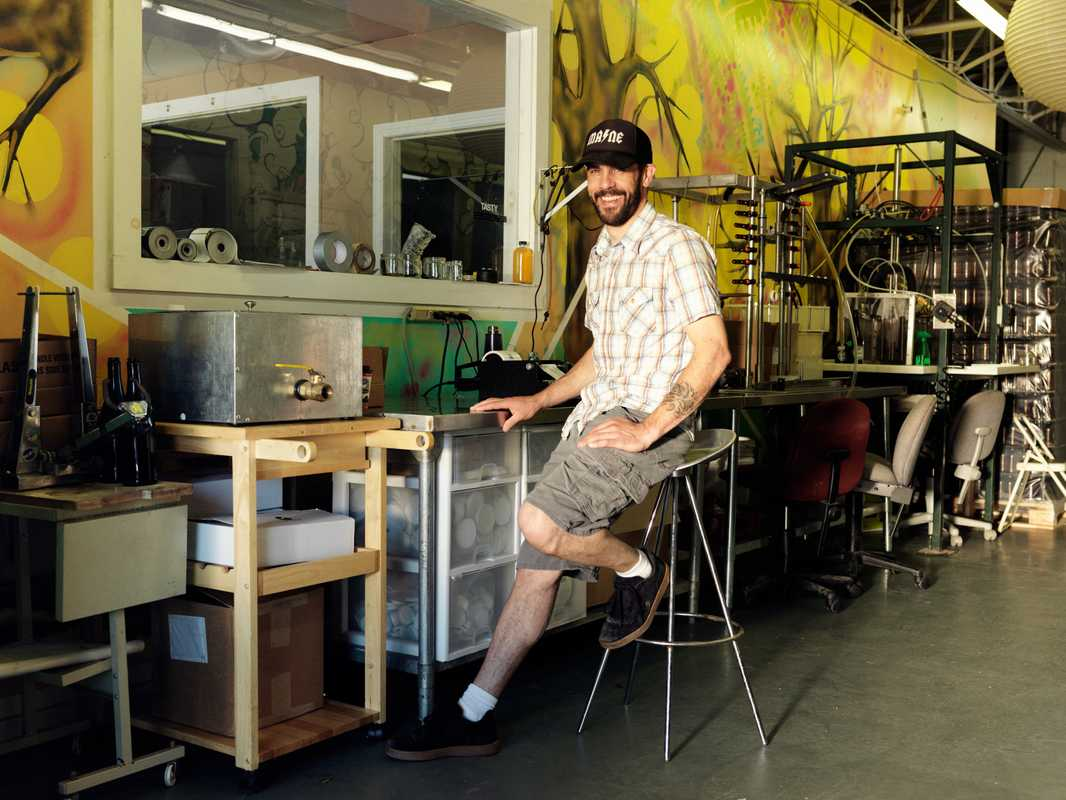 Entrepreneur Eli Cayer at his Urban Farm Fermentory