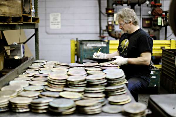 Cymbals in raw form
