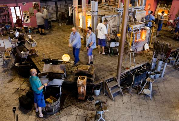 Furnaces in the 'hot shop'