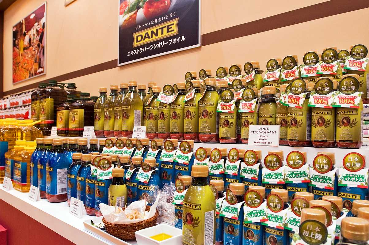 Olive oil display