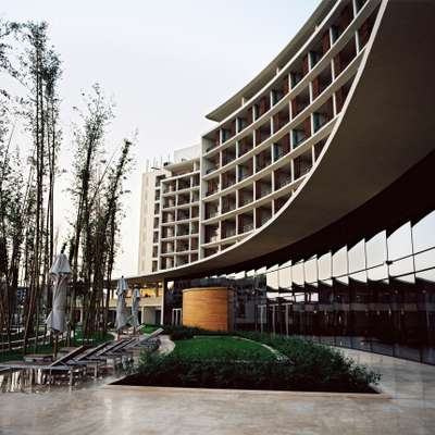 The recently opened Hotel Kempinski