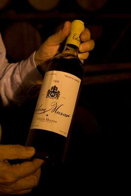 A bottle of Château Musar 1959