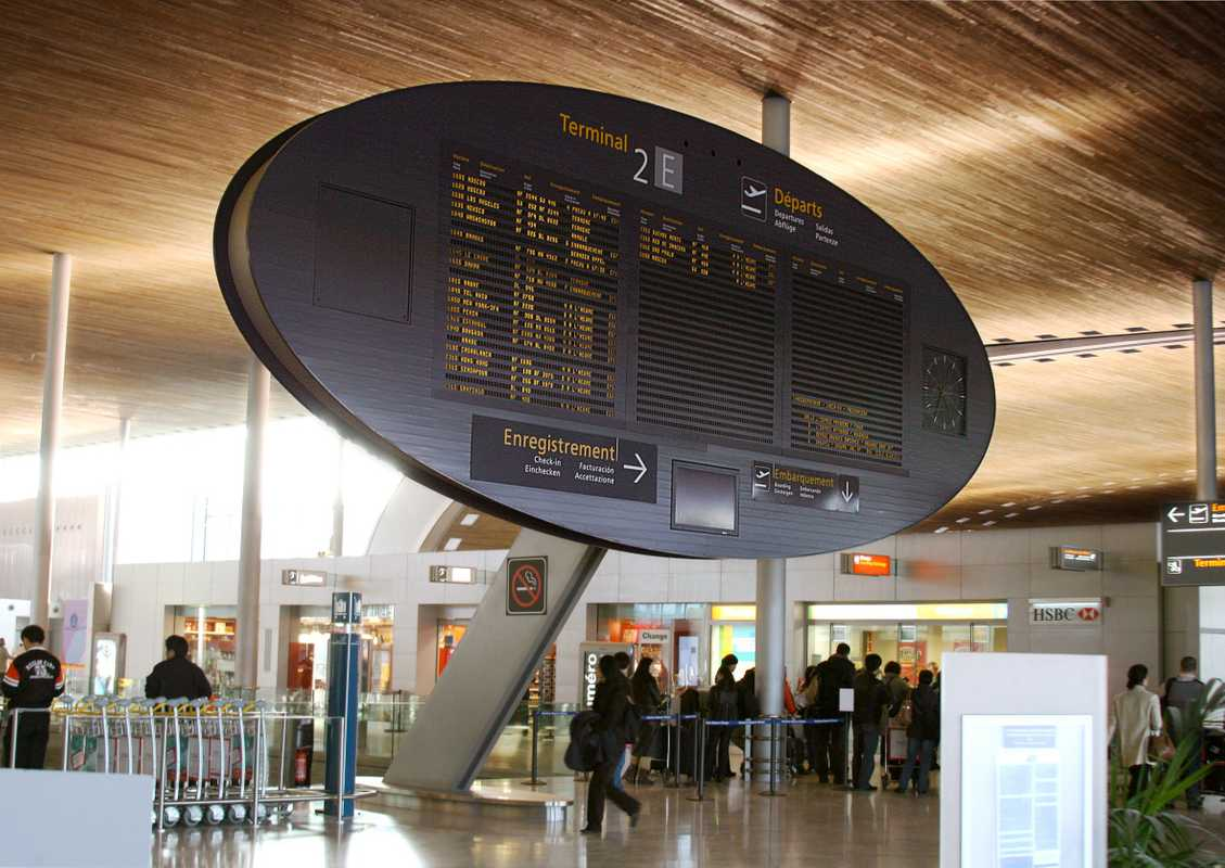 Display at Charles de Gaulle airport