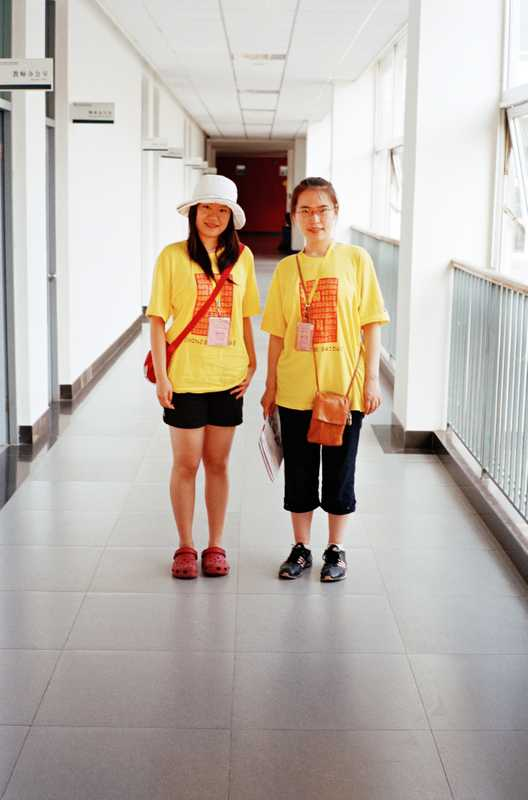 Lu Sisil (left) and Ai Yafang, Chinese volunteer students