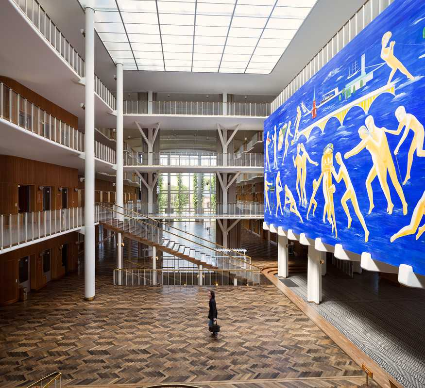 Painter Thorvald Hagedorn-Olsen's large mural decorates city hall