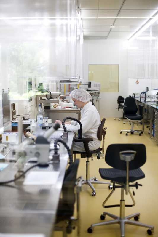 Transducers are made in a clean room