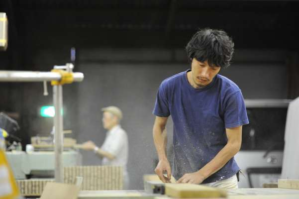 Makoto Nakahara in his studio